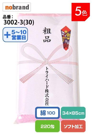 【のし紙に社名印刷します!】『粗品』タオル ソフト加工のふんわかタオル 重さ220匁!名刺ホルダー付袋