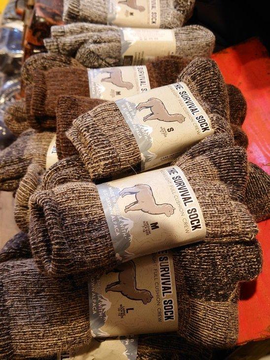 The Survival socks/サバイバルソックス アルパカ100% (ベージュ・ブラウン・チャコール)(M・L) USA製