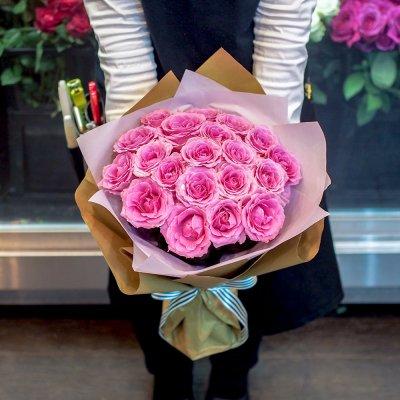 ピンクバラの花束 ブーケ