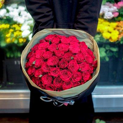 赤バラの花束 ブーケ