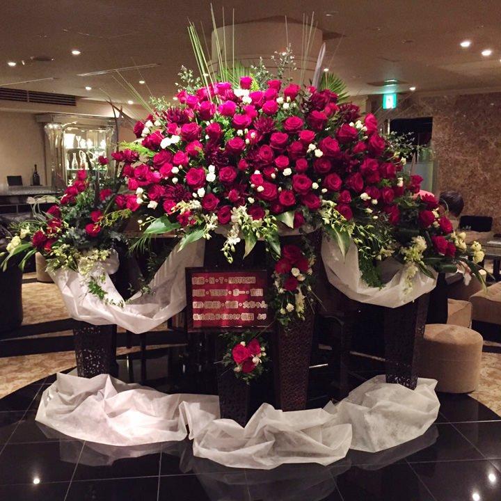 ステージ生花装飾