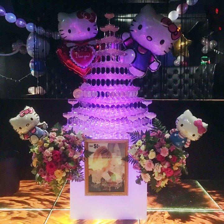 シャンパンタワー10段(三角形)