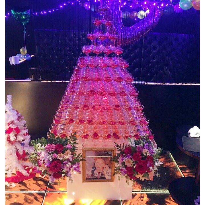 シャンパンタワー10段(四角形)