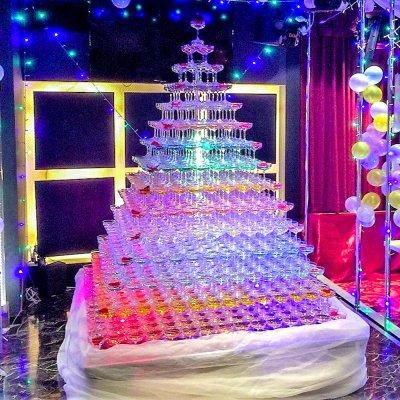 シャンパンタワー15段(四角形)