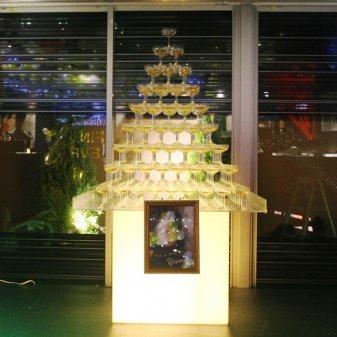 シャンパンタワー9段(四角形)