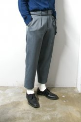 ETHOSENS(エトセンス)/Cellulitis drawcode slacks /Blue Gray