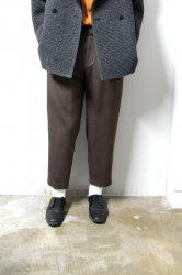 ETHOSENS(エトセンス)/Cellulitis drawcode slacks /Mocha