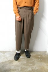 ETHOSENS(エトセンス)/Georgette drawcode slacks/Mocha
