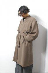 ETHOSENS(エトセンス)/No collar trench coat /Mocha