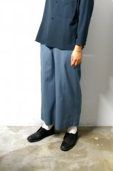 ETHOSENS(エトセンス)/Tropical baggy slacks/Saxe Blue