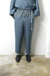 ETHOSENS(エトセンス)/Tropical Relax pants/Saxe Blue