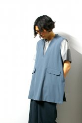 ETHOSENS(エトセンス)/Tropical Pullover vests/Saxe Blue