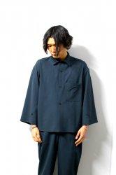 ETHOSENS(エトセンス)/Tropical drapey shirt/Green