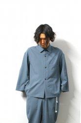 ETHOSENS(エトセンス)/Tropical drapey shirt/SaxeBlue
