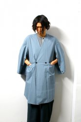 ETHOSENS(エトセンス)/Kimono coat/Saxe Blue