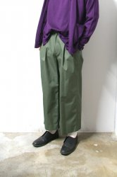 URU(ウル)/COTTON 2TUCK PANTS/Khaki
