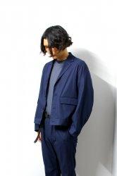 URU(ウル)/COTTON SHORT JACKET/Navy