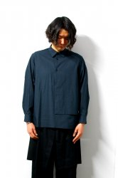 ETHOSENS(エトセンス)/Layer pullover shirt/Green