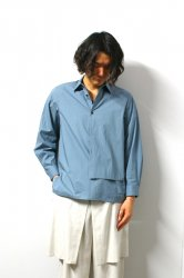 ETHOSENS(エトセンス)/Layer pullover shirt/Saxe Blue