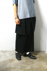 ETHOSENS(エトセンス)/Layer pants/Black