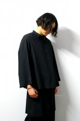 ETHOSENS(エトセンス)/Venetian drapey shirt/Black