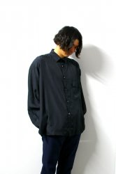stein(シュタイン)/OVERSIZED CUPRO DOWN PAT SHIRT/Black