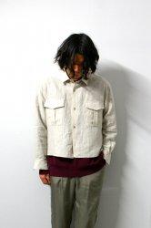 URU(ウル)/LINEN L/S SHORT LENGTH SHIRTS/Natural