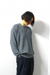 URU(ウル)/CREW NECK OVER KNIT/D.Gray