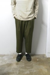 URU(ウル)/WOOL 2TUCK EASY PANTS/Khaki