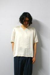 ETHOSENS(エトセンス)/Silk V-neck pullover/Ivory