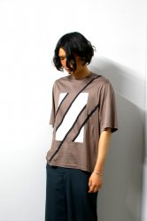 ETHOSENS(エトセンス)/Switching T-shirt/Mocha × Gureju