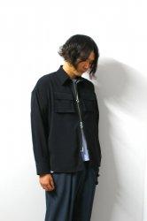 LIBERUM(リベルム)/3D pocket zip shirt/Black