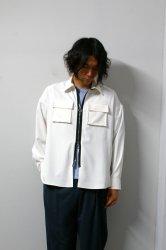 LIBERUM(リベルム)/3D pocket zip shirt/White
