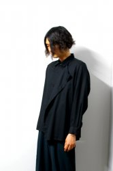 ETHOSENS(エトセンス)/Venetian layers shirt/Black