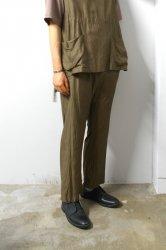 URU(ウル)/COTTON CUPRA EASY PANTS/Khaki