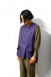 URU(ウル)/COTTON CUPRA VEST/Purple