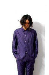 URU(ウル)/COTTON CUPRA L/S SHIRTS/Purple