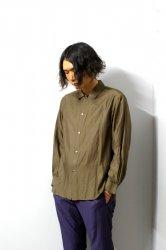 URU(ウル)/COTTON CUPRA L/S SHIRTS/Khaki