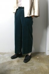 ETHOSENS(エトセンス)/Corduroy baggy slacks/Green