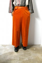 ETHOSENS(エトセンス)/Corduroy baggy slacks/Orange