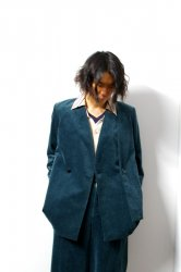 ETHOSENS(エトセンス)/Colorless layer jacket/Green