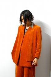 ETHOSENS(エトセンス)/Colorless layer jacket/Orange