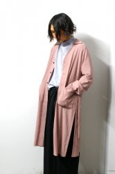 ETHOSENS(エトセンス)/Embossed long shirt/Pink