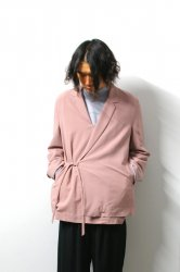 ETHOSENS(エトセンス)/Embossed pullover jacket/Pink