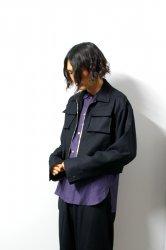 LIBERUM(リベルム)/3D pocket short blouson/Black