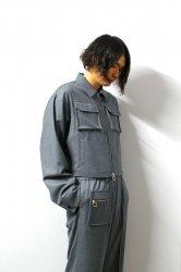 LIBERUM(リベルム)/3D pocket short blouson/Gray