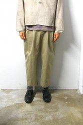 URU(ウル)/COTTON 2TUCK PANTS/Beige