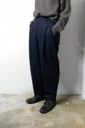 URU(ウル)/COTTON RAYON 1TUCK PANTS/Navy