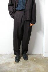 URU(ウル)/COTTON RAYON 1TUCK PANTS/Brown