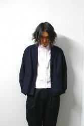 URU(ウル)/COTTON RAYON JACKET/Navy